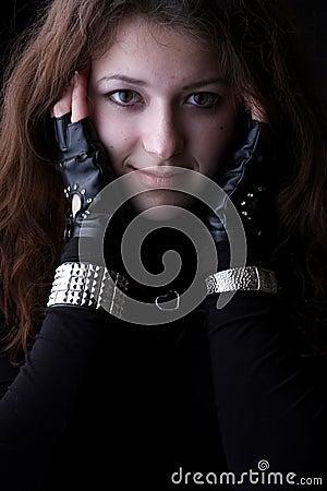 Girl portrait, smile