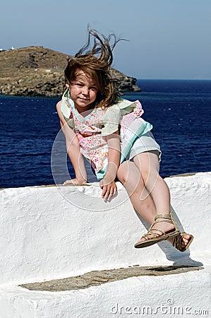 Girl portrait in summer