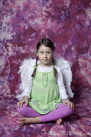 Girl portrait with wings