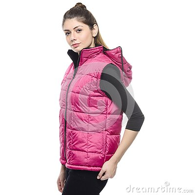 Girl Posing Wearing Puffer Vest Free Public Domain Cc0 Image