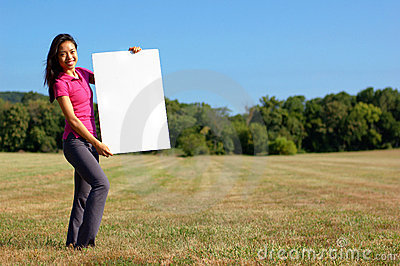 Girl With Poster