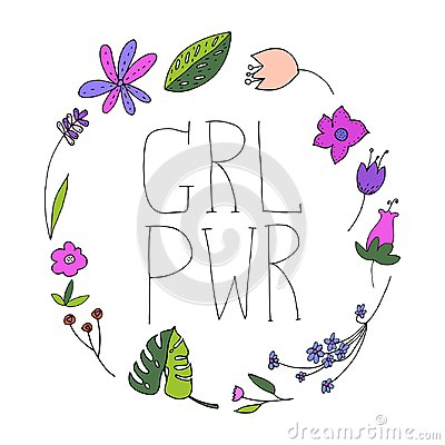 Free Girl Power Vector Illustration. Royalty Free Stock Image - 107836516