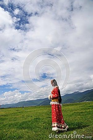 Girl in prairie