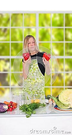 Free Girl Preparing Food Stock Photo - 1766570