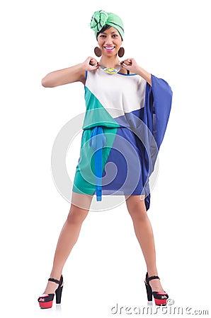 Girl preparing