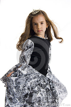 Girl in princess dress