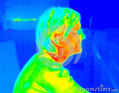 Girl profile1 thermograph