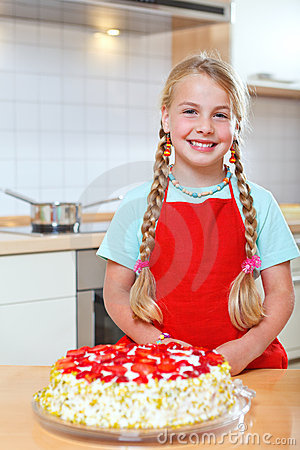 Free Girl Proud Of Her Strawberry Stock Photography - 22542682
