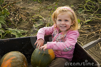 Girl at the Pumpkin Farm