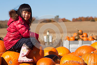Girl Pumpkin Patch
