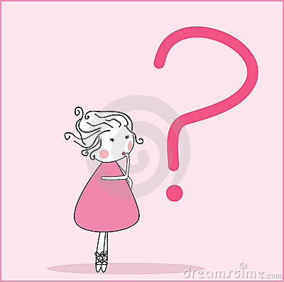 Girl with question