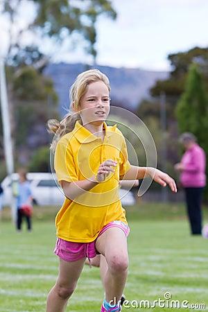 Girl in race