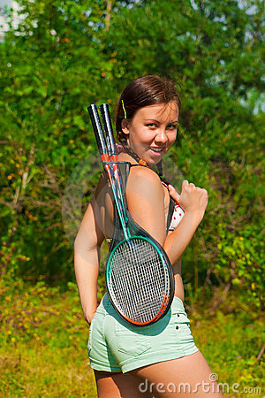 Girl with racket