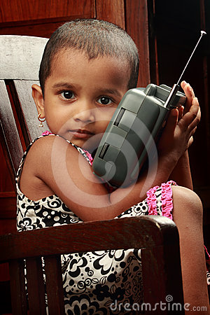 Girl with radio