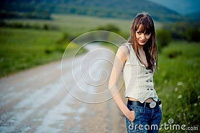 Girl after rain