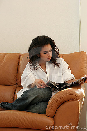 Free Girl Reading At Home Royalty Free Stock Image - 325746