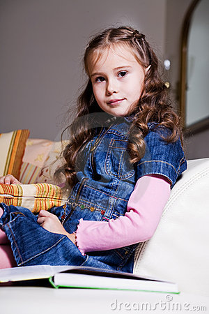 Girl reading book 10