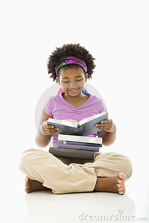 Free Girl Reading Books. Royalty Free Stock Image - 3423396