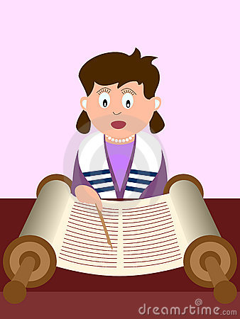 Girl reading the Torah