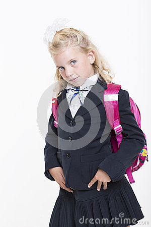 Girl is ready for new school year
