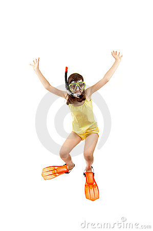 Free Girl Ready To Swim And Dive Royalty Free Stock Photos - 10170598