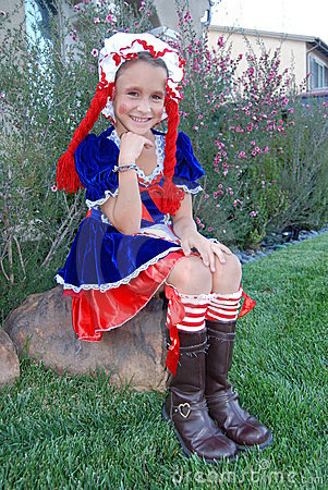 Girl ready for trick or treating