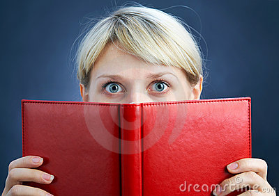 Girl with red book