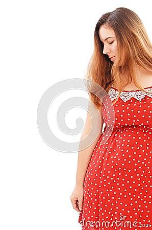 Girl in Red Dress