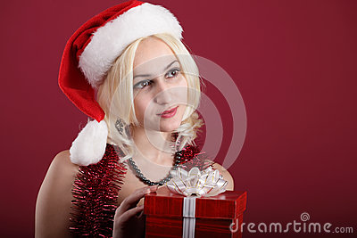 Girl with red gift