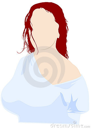 Girl and red hair