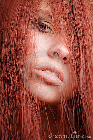 Girl with red hair portait