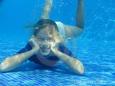 Girl relaxing underwater
