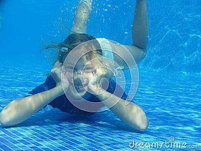 Girl relaxing underwater