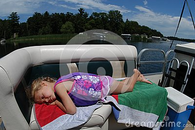 Girl Resting On Boat Royalty Free Stock Images - Image: 14251619