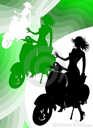 Girl Riding Vespa