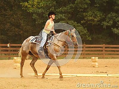 Girl Riding Western