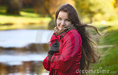 Girl on River Shore