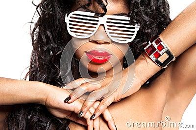Girl with a ruby bracelet