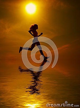 Free Girl Running Stock Photo - 3928360
