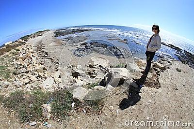 Girl and S. Bartolomeu do Mar