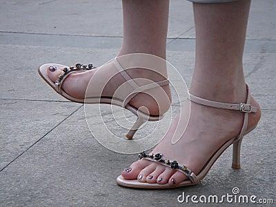Girl s foot