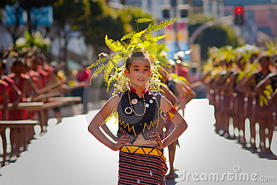 Girl s Portrait with Traditional Igorot Clothing Editorial Stock Photo