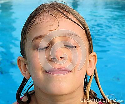 Girl s Wet Face