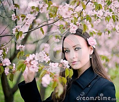 Girl with sacura
