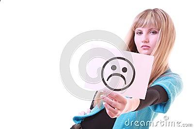 Girl with sad smile