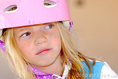 Girl in Safety Helmet