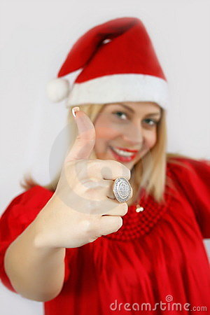 Girl Santa Klaus