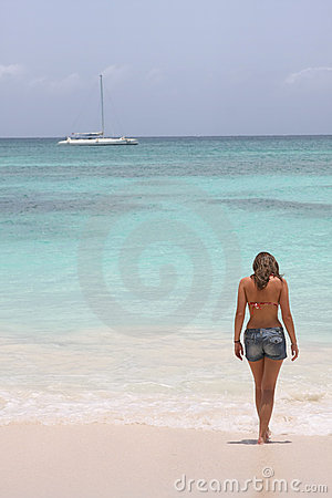 Girl in saona beach