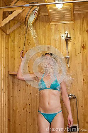 The girl in the sauna