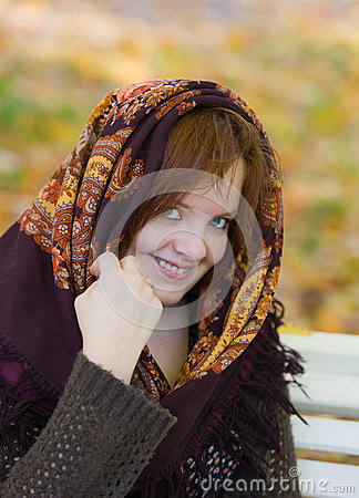 Girl in a scarf